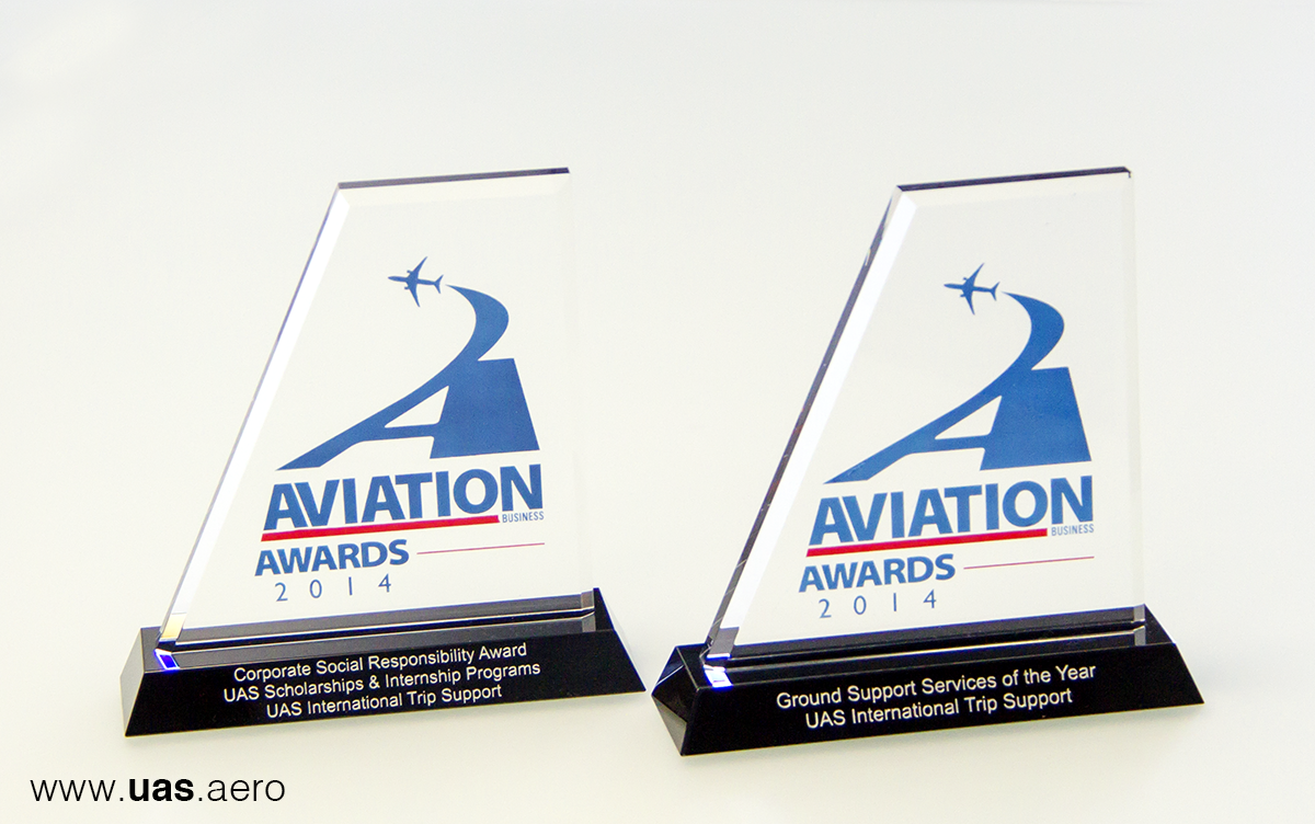 UAS Scoops Two Aviation Business Awards 2014