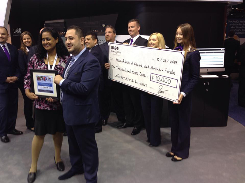 UAS Team Donates To Make-A-Wish At NBAA