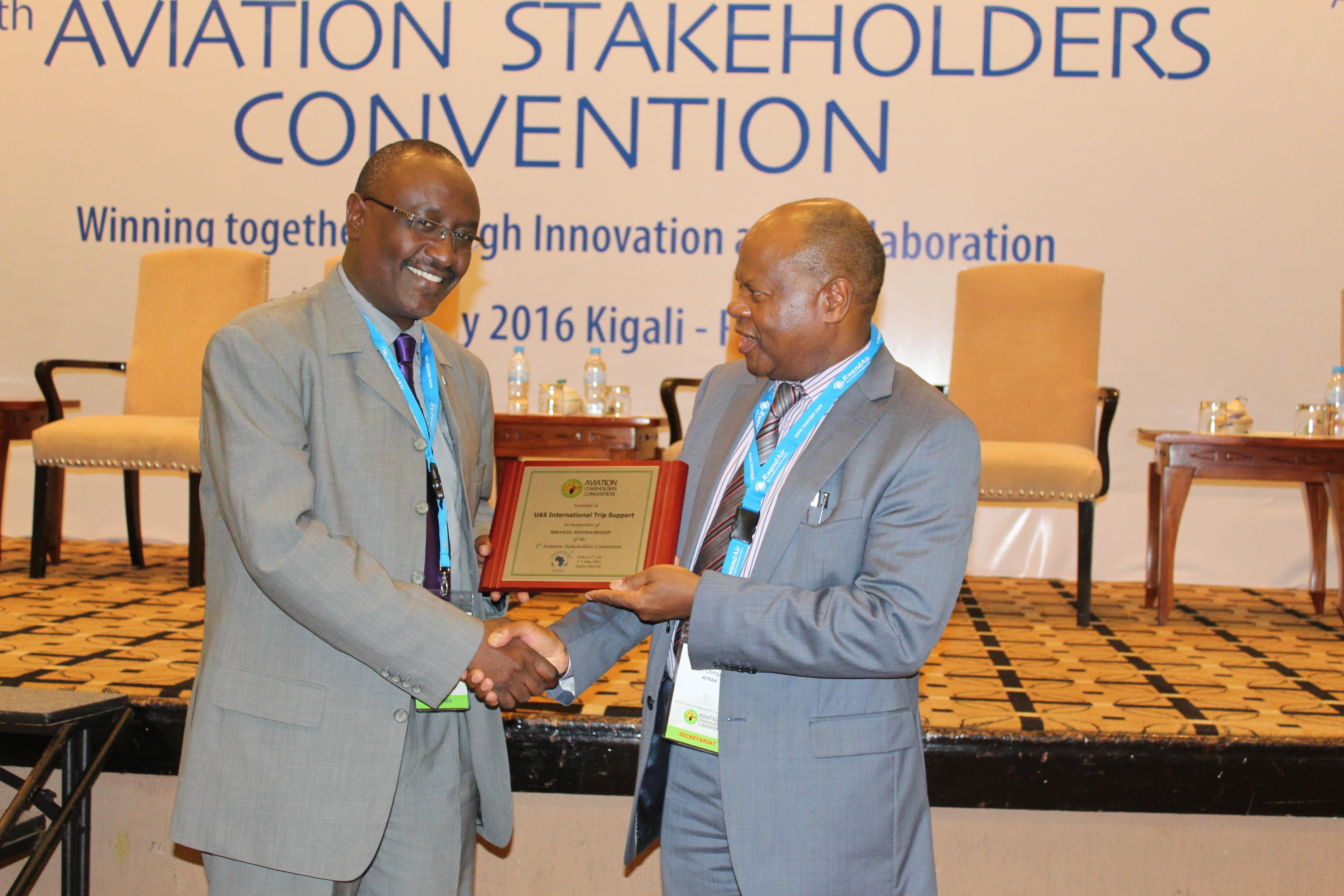 UAS Receive AFRAA Recognition Award