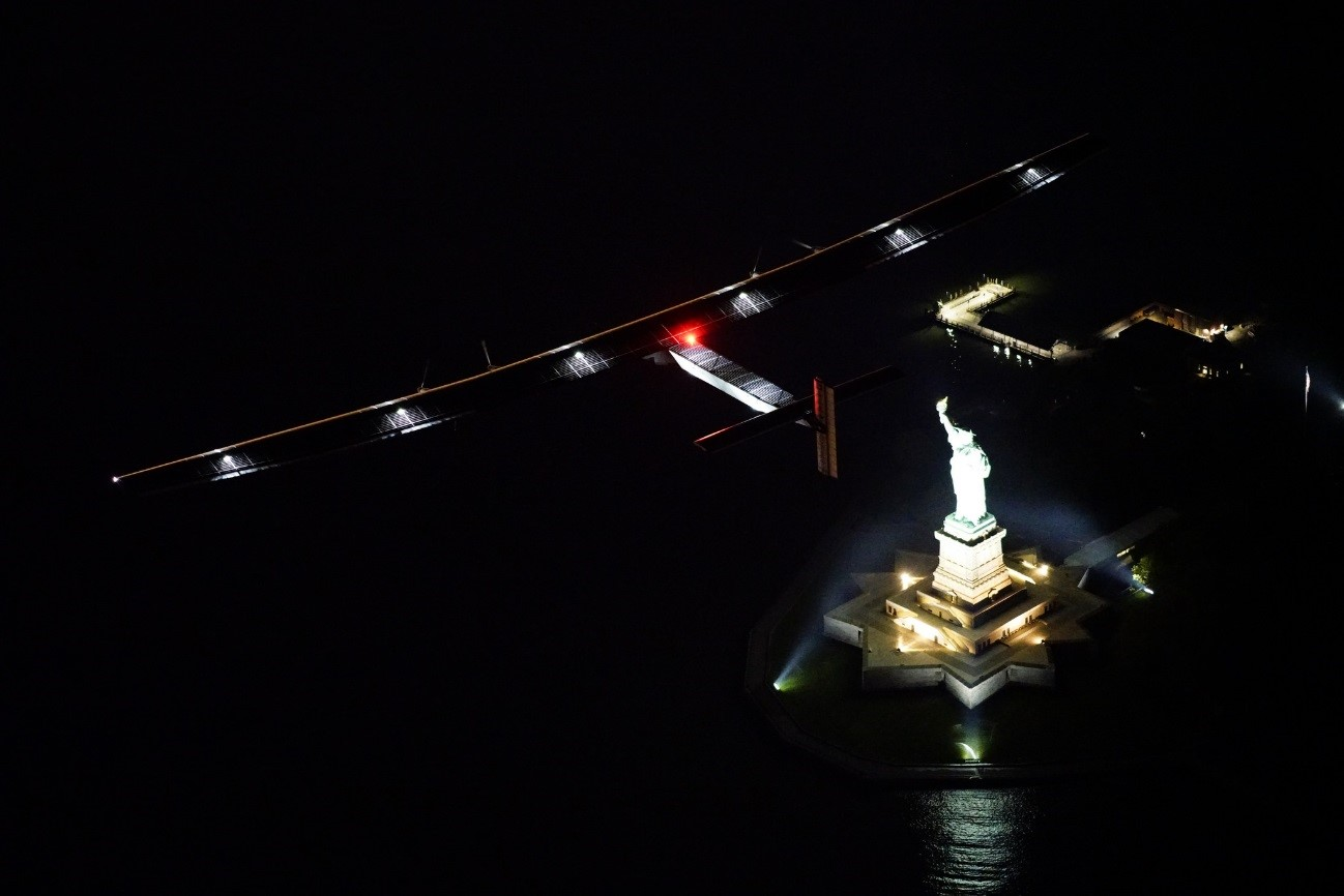 Solar Impulse 2 Overflies The Statue Of Liberty