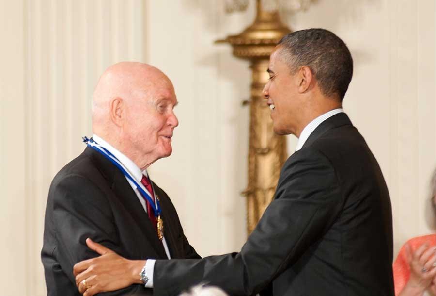 John Glenn And President Obama