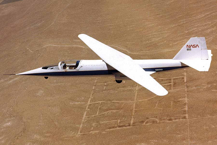Unique Flying Machines: NASA AD-1