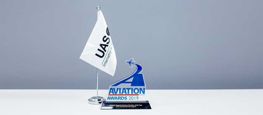 UAS Celebrates Business Aviation Award For Ground Support Services Provider 2019